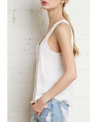 Forever 21 | White Crocheted Slub Knit Top | Lyst