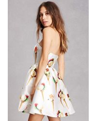 Forever 21 - White Ice Cream Fit & Flare Dress - Lyst
