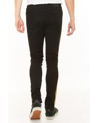 Forever 21 - Black Kayden K Distressed Side-striped Jeans for Men - Lyst