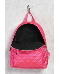 Forever 21 - Pink Quilted Satin Backpack - Lyst