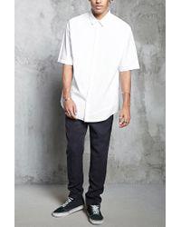 Forever 21 - White Slim-fit Woven Shirt for Men - Lyst