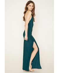 Forever 21 - Blue Contemporary Slit Maxi Dress - Lyst