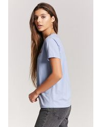 Forever 21 Blue Girls Graphic Tee