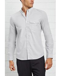 Forever 21 | Gray Fitted Button-down Shirt for Men | Lyst