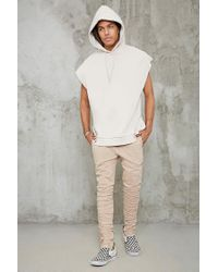 Forever 21 - Multicolor Raw-cut Sleeveless Hoodie for Men - Lyst