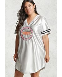 Forever 21 - Multicolor Plus Size Graphic Varsity Top - Lyst