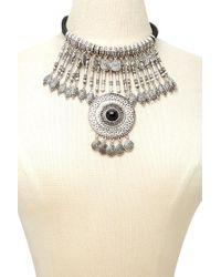Forever 21 - Metallic Medallion Statement Necklace - Lyst