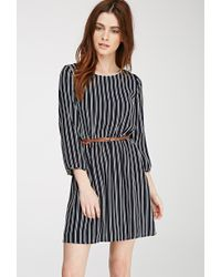 490f44de2d Forever 21. Women s Blue Striped Belted Dress You ve Been Added To The  Waitlist