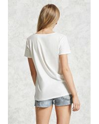 Forever 21 - Multicolor Crisscross-front Tee - Lyst