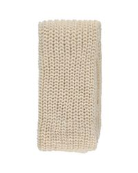 Forever 21 - Natural Chunky Ribbed Oblong Scarf - Lyst