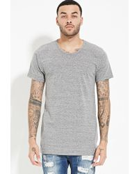 Forever 21 - Gray Eptm. Longline Tee for Men - Lyst