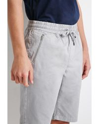 Forever 21 - Gray Zip-pocket Drawstring Shorts for Men - Lyst