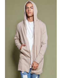 Forever 21 - Natural Longline Raw-cut Hoodie for Men - Lyst