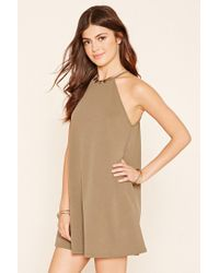Forever 21   Green A-line Mini Dress   Lyst