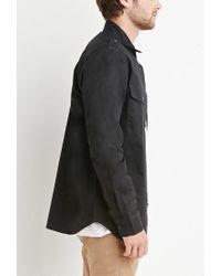 Forever 21 - Black Utility Pocket Shirt for Men - Lyst