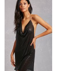 26d5a674491 Forever 21 Metallic Chainmail Dress in Black - Lyst
