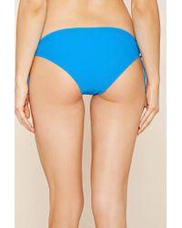 Forever 21 - Blue Keyhole Bikini Bottoms - Lyst
