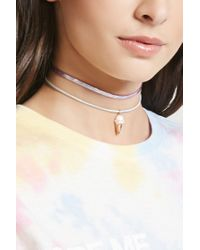 Forever 21 - Natural Holographic Ice Cream Choker Set - Lyst