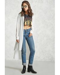 Forever 21 | Multicolor Crinkled High-low Tunic | Lyst