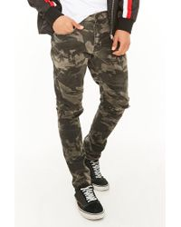 2dab0437a0d8b1 Lyst - Forever 21 Jordan Craig Distressed Camo Jeans in Green for Men