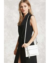Forever 21 | White Faux Leather Crossbody | Lyst