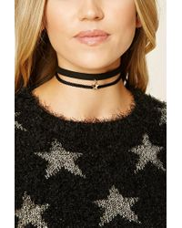 Forever 21 | Multicolor Faux Suede Star Choker Set | Lyst
