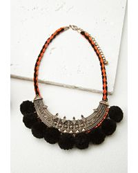 Forever 21 | Metallic Etched Bib Necklace | Lyst