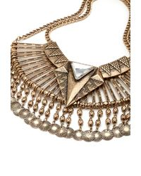 Forever 21 - Metallic Pendant Bib Necklace - Lyst