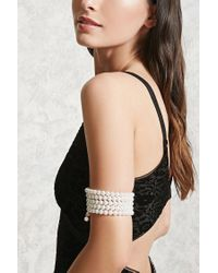 Forever 21 | Multicolor Faux Pearl Arm Band | Lyst