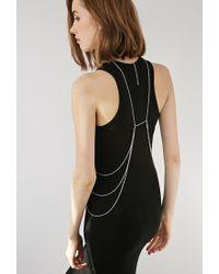 Forever 21 - Metallic Hoop Pendant Body Chain - Lyst