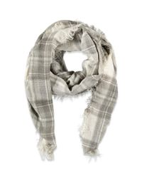 Forever 21 - Gray Classic Plaid Scarf - Lyst