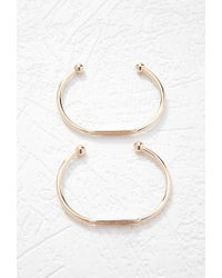Forever 21 - Metallic Engraved Cuff Set - Lyst