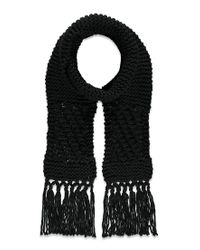 Forever 21   Black Chunky Ribbed Scarf   Lyst