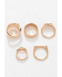 Forever 21 | Metallic Plated Ring Set | Lyst