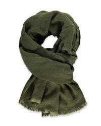 Forever 21 | Green Frayed Oblong Scarf | Lyst