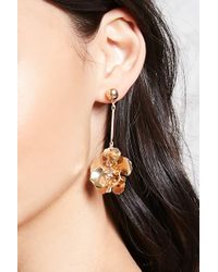 Forever 21 - Metallic Floral Drop Earrings - Lyst
