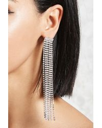 Forever 21 - Metallic Rhinestone Duster Earrings - Lyst