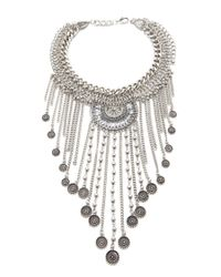 Forever 21 | Metallic Coin Fringe Statement Necklace You've Been Added To The Waitlist | Lyst