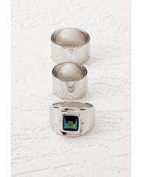 Forever 21 - Metallic Faux Gemstone Ring Set - Lyst