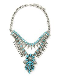 Forever 21 | Blue Faux Turquoise Statement Necklace | Lyst