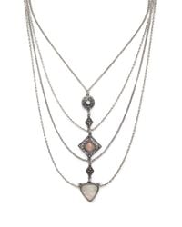 Forever 21 - Metallic Draped Statement Necklace - Lyst