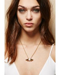Forever 21 | Metallic Amber Sceats Cone Necklace | Lyst