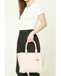Forever 21 | Natural Faux Leather Satchel | Lyst