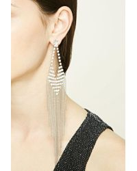 Forever 21 | Metallic Beaded Chandelier Earrings | Lyst