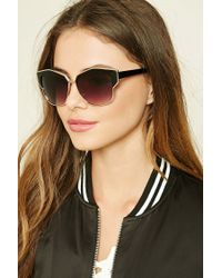 Forever 21 | Multicolor Metallic Cat Eye Sunglasses | Lyst