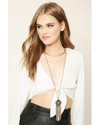 Forever 21 | Metallic Ornate Layered Necklace | Lyst