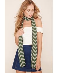 Forever 21 | Green Striped Oblong Scarf | Lyst