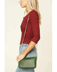 Forever 21 | Green Chain Strap Crossbody | Lyst