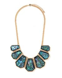 Forever 21 - Metallic Faux Shell Statement Necklace - Lyst