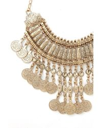 Forever 21 - Metallic Coin Statement Necklace - Lyst